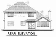 European Style House Plan - 4 Beds 3 Baths 2038 Sq/Ft Plan #18-9044 Exterior - Rear Elevation