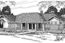 Ranch Exterior - Front Elevation Plan #124-179