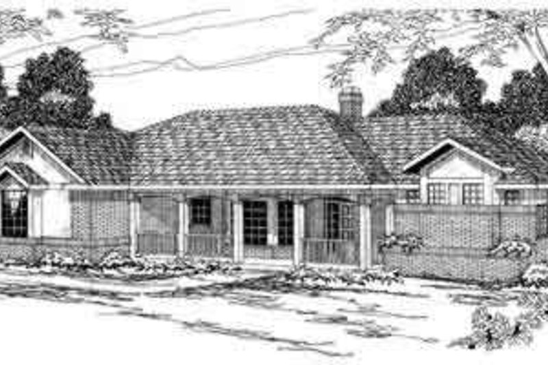 Home Plan - Ranch Exterior - Front Elevation Plan #124-179