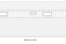 Architectural House Design - Contemporary Exterior - Rear Elevation Plan #932-307