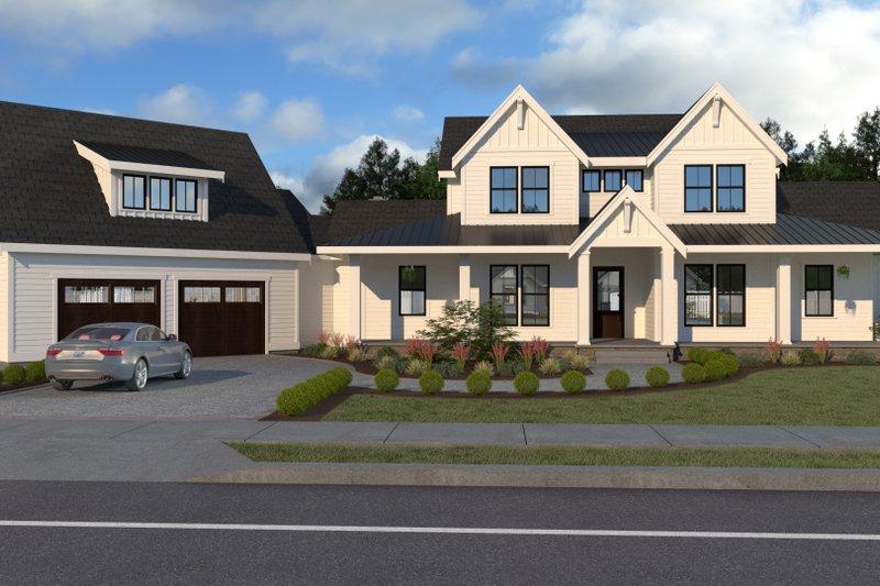 Dream House Plan - Farmhouse Exterior - Front Elevation Plan #1070-23