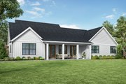 Contemporary Style House Plan - 3 Beds 2.5 Baths 2104 Sq/Ft Plan #48-1000 Exterior - Rear Elevation