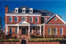 Architectural House Design - Colonial Exterior - Front Elevation Plan #54-112