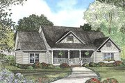 Country Style House Plan - 4 Beds 3.5 Baths 2261 Sq/Ft Plan #17-614 Exterior - Front Elevation