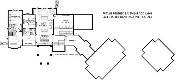 Architectural House Design - Traditional Floor Plan - Lower Floor Plan #928-329