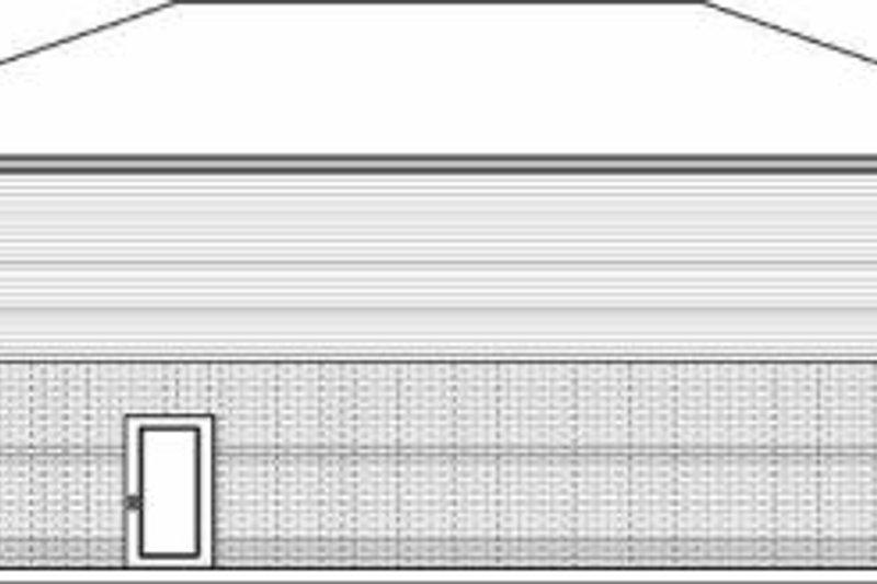 Traditional Exterior - Rear Elevation Plan #84-116 - Houseplans.com