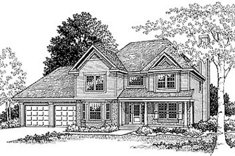 Traditional Style House Plan - 3 Beds 2.5 Baths 1912 Sq/Ft Plan #70-239