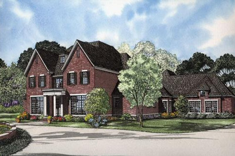 Dream House Plan - Colonial Exterior - Front Elevation Plan #17-2166