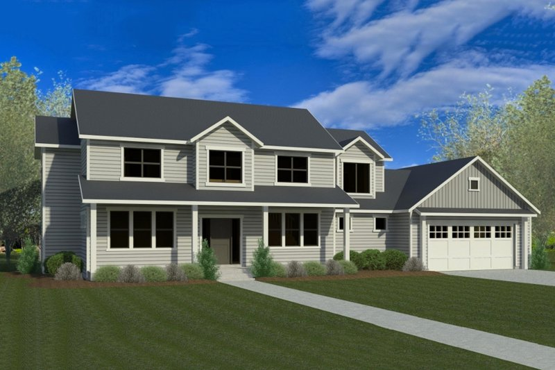 Craftsman Style House Plan - 5 Beds 3.5 Baths 3221 Sq/Ft Plan #920-9 Exterior - Front Elevation