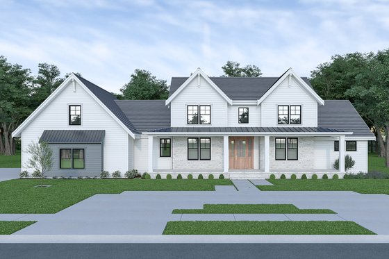 Farmhouse Exterior - Front Elevation Plan #1070-55