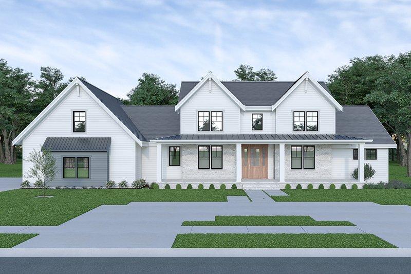 Architectural House Design - Farmhouse Exterior - Front Elevation Plan #1070-55