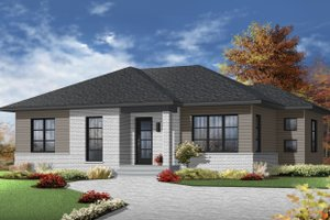 Ranch Exterior - Front Elevation Plan #23-2617
