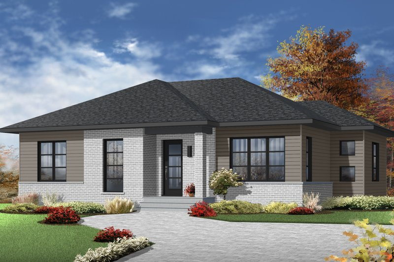 Architectural House Design - Ranch Exterior - Front Elevation Plan #23-2617