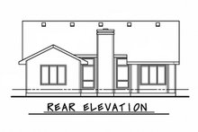 House Design - Traditional Exterior - Rear Elevation Plan #20-109