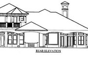 Mediterranean Style House Plan - 3 Beds 3.5 Baths 3810 Sq/Ft Plan #27-212 Exterior - Rear Elevation