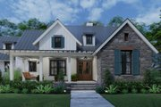 Farmhouse Style House Plan - 3 Beds 2.5 Baths 1742 Sq/Ft Plan #120-270 Exterior - Other Elevation