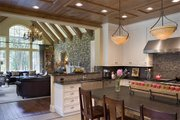 Craftsman Style House Plan - 5 Beds 5.5 Baths 5250 Sq/Ft Plan #48-466 Interior - Family Room