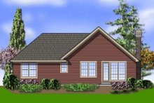 Home Plan - Cottage Exterior - Rear Elevation Plan #48-278