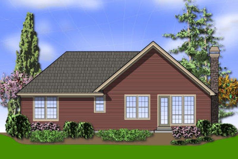 Cottage Exterior - Rear Elevation Plan #48-278 - Houseplans.com