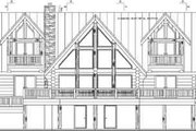 Log Style House Plan - 3 Beds 2 Baths 3303 Sq/Ft Plan #117-102 Exterior - Rear Elevation