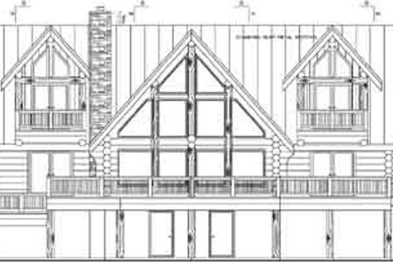 Log Exterior - Rear Elevation Plan #117-102 - Houseplans.com