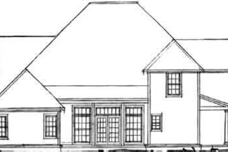Traditional Exterior - Rear Elevation Plan #20-358 - Houseplans.com