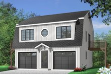 Home Plan - Country Exterior - Front Elevation Plan #23-441