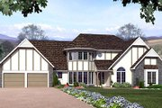 European Style House Plan - 3 Beds 2.5 Baths 2176 Sq/Ft Plan #312-222 Exterior - Front Elevation