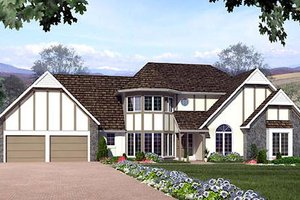 European Exterior - Front Elevation Plan #312-222