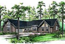 Traditional Exterior - Front Elevation Plan #72-165