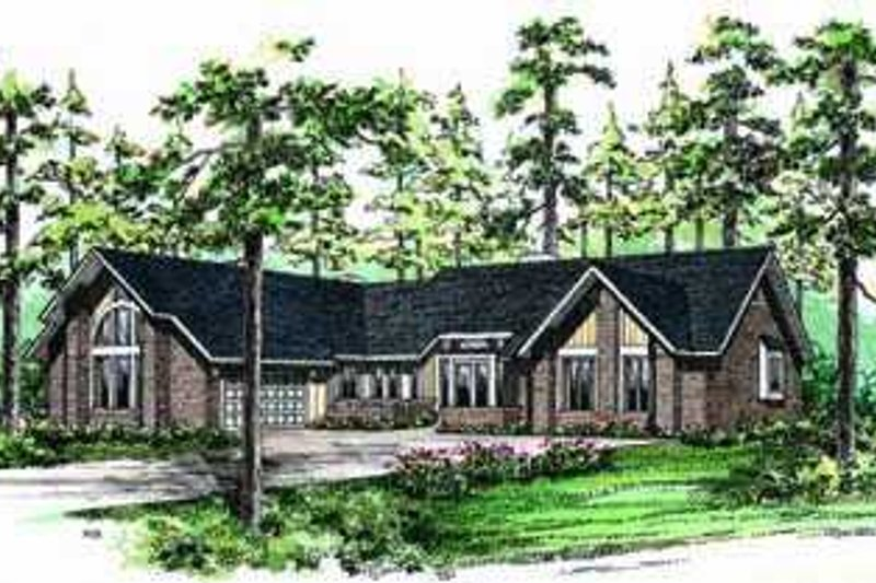 House Blueprint - Traditional Exterior - Front Elevation Plan #72-165