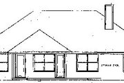 Mediterranean Style House Plan - 3 Beds 2 Baths 1501 Sq/Ft Plan #52-101 Exterior - Rear Elevation