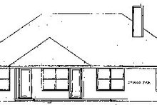 Mediterranean Exterior - Rear Elevation Plan #52-101