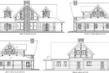 Log Exterior - Rear Elevation Plan #117-101