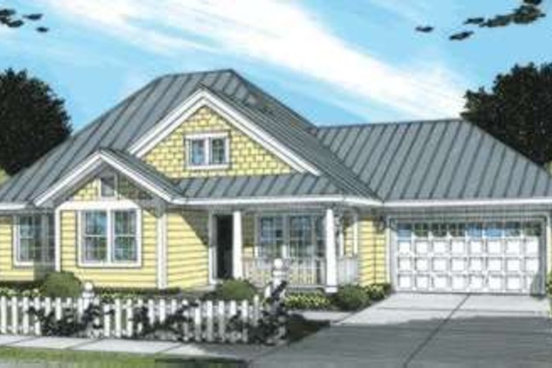 Architectural House Design - Traditional Exterior - Front Elevation Plan #20-1886