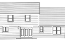 European Exterior - Rear Elevation Plan #46-889