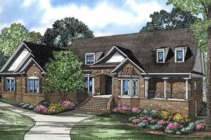 Southern Exterior - Front Elevation Plan #17-2365