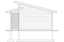 Home Plan - Contemporary Exterior - Rear Elevation Plan #23-2668