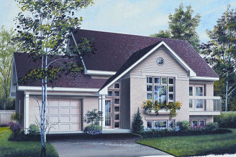 Exterior - Front Elevation Plan #23-711