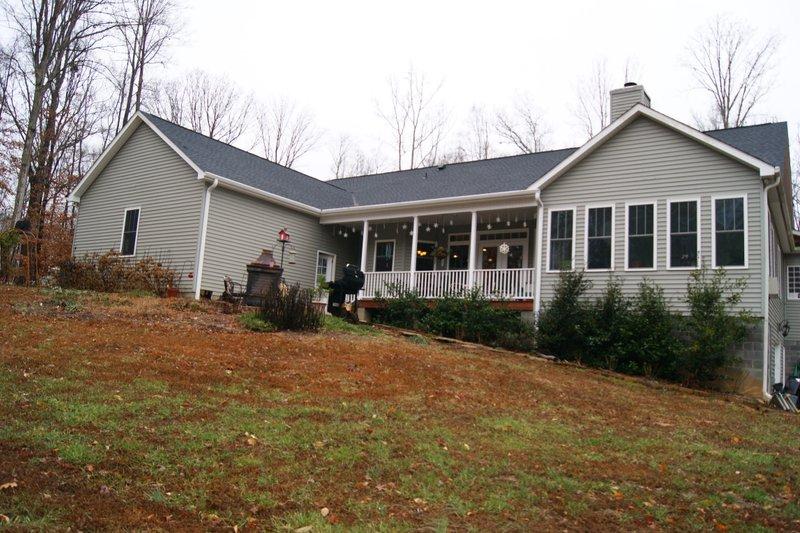Craftsman Exterior - Rear Elevation Plan #44-186 - Houseplans.com