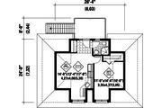 European Style House Plan - 0 Beds 0 Baths 483 Sq/Ft Plan #25-4751 Floor Plan - Upper Floor Plan