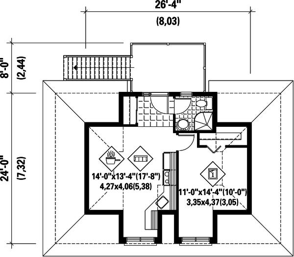 European Floor Plan - Upper Floor Plan Plan #25-4751