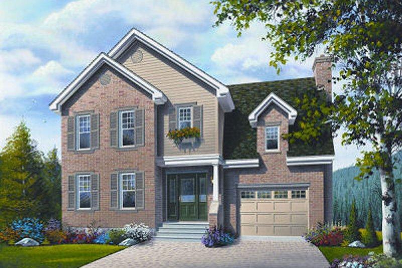 Dream House Plan - European Exterior - Front Elevation Plan #23-800