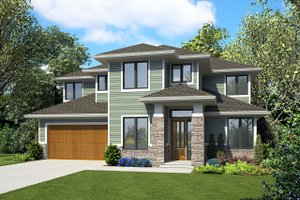 Modern Exterior - Front Elevation Plan #48-939