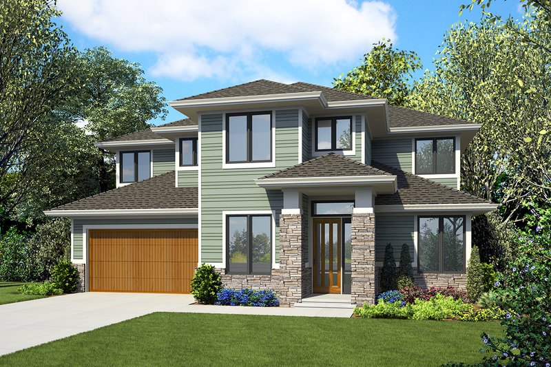Dream House Plan - Modern Exterior - Front Elevation Plan #48-939