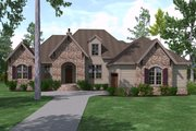 European Style House Plan - 3 Beds 3.5 Baths 2488 Sq/Ft Plan #1071-17 Exterior - Front Elevation