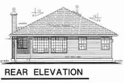 Traditional Style House Plan - 2 Beds 1.5 Baths 1164 Sq/Ft Plan #18-9256 Exterior - Rear Elevation