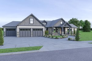 Craftsman Exterior - Front Elevation Plan #1070-65