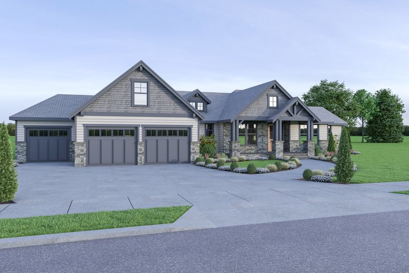 Dream House Plan - Craftsman Exterior - Front Elevation Plan #1070-65