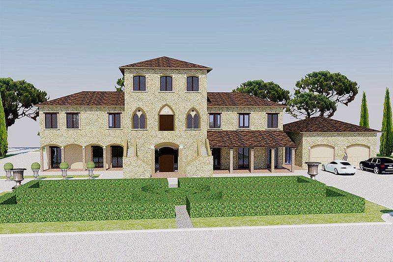 Dream House Plan - European Exterior - Front Elevation Plan #542-9